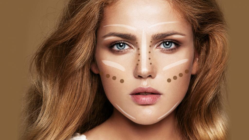 Très Astuce de maquillage pour avoir visuellement un visage plus mince  OK44